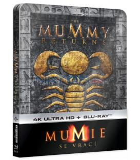 Mumie se vrací (The Mummy Returns) 2Blu-ray (UHD+BD) Steelbook