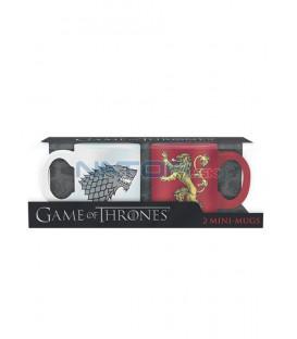 Hrnečky Game of Thrones 110ml set 2ks Stark & Lannister