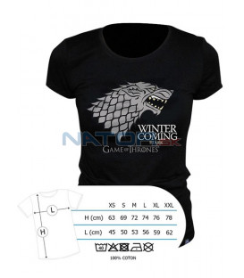 "Tričko Game of Thrones - ""Winter is coming"" pánské, černé M (Tričko Game of Thrones - ""Winter is coming"")"