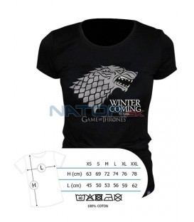 "Tričko Game of Thrones - ""Winter is coming"" pánské, černé L (Tričko Game of Thrones - ""Winter is coming"")"
