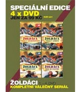 SPECIÁLNÍ EDICE 01 - 4 X DVD KOMPLETNÍ AKČNÍ VÁLEČNÝ SERIÁL