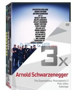 Kolekce:Arnold Schwarzenegger (Postradatelní 3, Plán útěku, Sabotage) 3DVD