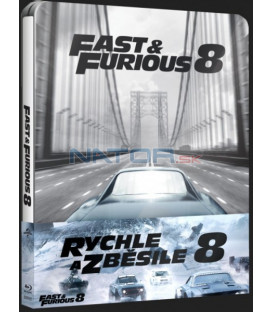 RYCHLE A ZBĚSILE 8 (The Fate of the Furious) 2x Blu-ray STEELBOOK