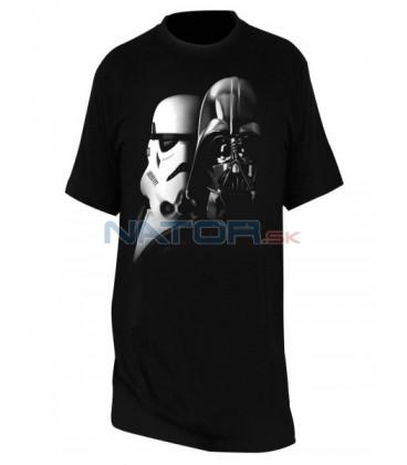 """Tričko Star Wars - """"Vader a Trooper"""" pánské, černé XXL"""