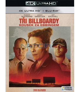 Tři billboardy kousek za Ebbingem 2017 (Three Billboards Outside Ebbing, Missouri) (4K Ultra HD) - UHD+BD - 2 x Blu-ray