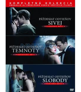 PADESÁT ODSTÍNŮ (FIFTY SHADES) Kompletní kolekce 2018 (3 Blu-ray)