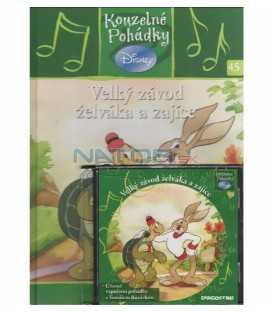 Velký závod želváka a zajíce kniha + CD- Kouzelné pohádky Disney 45.
