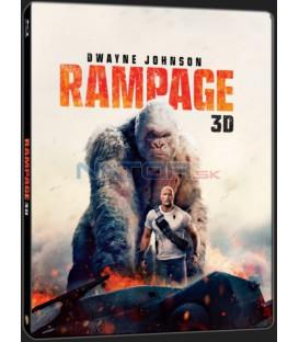 Rampage: Ničitelé / Besnenie 2018 (Rampage) Blu-ray 3D + 2D Steelbook (2 BD)