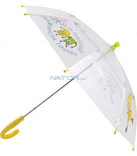 Detský dáždnik Kúzelná škôlka, priehľadný, 66 cm