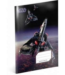 Školský zošit Star Wars – Tri-Fighter, A5, 40 listov, linajkovaný