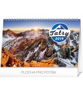 Stolový kalendár Tatry SK 2019, 23,1 x 14,5 cm
