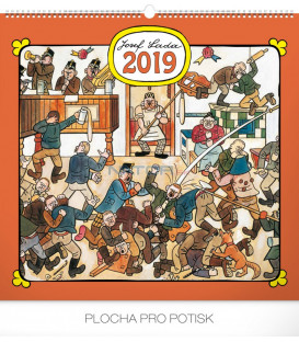 Nástenný kalendár Josef Lada – Hostinec 2019, 48 x 46 cm