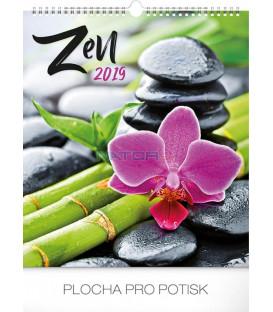 Nástenný kalendár Zen 2019, 30 x 34 cm