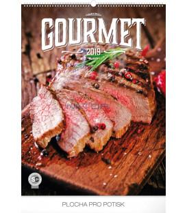 Nástenný kalendár Gourmet 2019, 48 x 64 cm