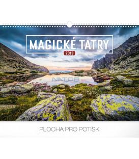 Nástenný kalendár Magické Tatry 2019, 48 x 33 cm