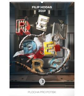 Nástenný kalendár Renders – Filip Hodas 2019, 48 x 64 cm