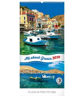 Nástenný kalendár Zaostrené na Grécko 2019, 33 x 64 cm