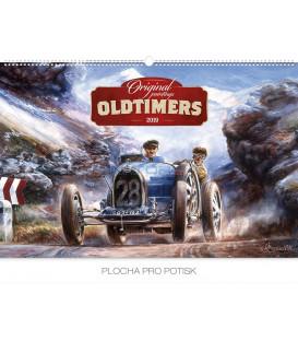 Nástenný kalendár Oldtimers – Václav Zapadlík 2019, 62 x 42 cm