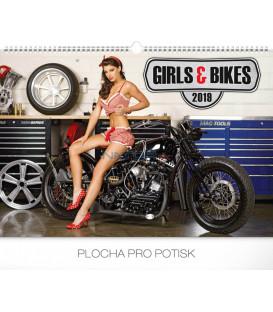 Nástenný kalendár Girls & Bikes – Jim Gianatsis 2019, 48 x 33 cm