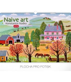 Nástenný kalendár Naivné umenie – Konstantin Rodko 2019, 48 x 33 cm