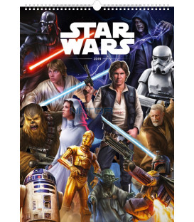 Nástenný kalendár Star Wars – Plagáty 2019, 33 x 46 cm