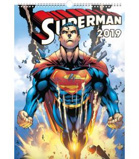 Nástenný kalendár Superman – Plagáty 2019, 33 x 46 cm