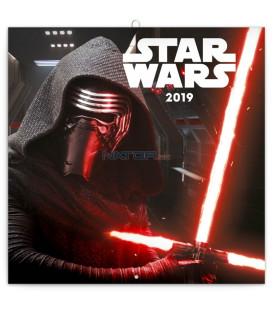Poznámkový kalendár Star Wars 2019, 30 x 30 cm
