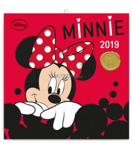 Poznámkový kalendár Minnie 2019, 30 x 30 cm