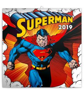 Poznámkový kalendár Superman 2019, 30 x 30 cm