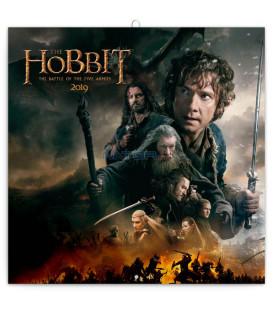Poznámkový kalendár Hobbit 2019, 30 x 30 cm