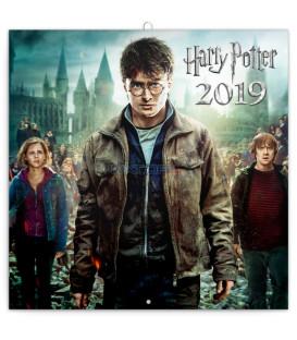 Poznámkový kalendár Harry Potter 2019, 30 x 30 cm