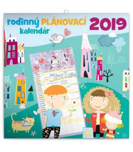 Rodinný plánovací kalendár SK 2019, 30 x 30 cm