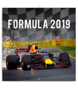 Poznámkový kalendár Formuly – Jirí Krenek 2019, 30 x 30 cm