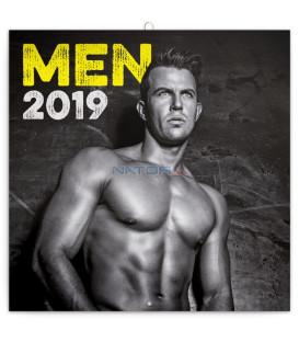 Poznámkový kalendár Muži 2019, 30 x 30 cm