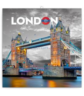 Poznámkový kalendár Londýn 2019, 30 x 30 cm