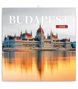 Poznámkový kalendár Budapešť 2019, 30 x 30 cm