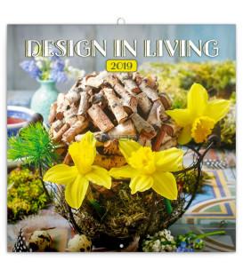 Poznámkový kalendár Design in Living 2019, 30 x 30 cm