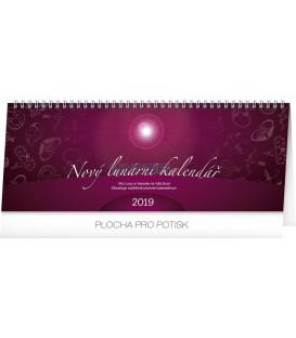 Stolový kalendár Nový lunárny kalendár 2019, 33 x 12,5 cm