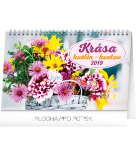 Stolový kalendár Krása kvetin – Krása kvetov CZ/SK 2019, 23,1 x 14,5 cm