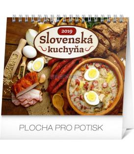 Stolový kalendár Slovenská kuchyňa SK 2019, 16,5 x 13 cm