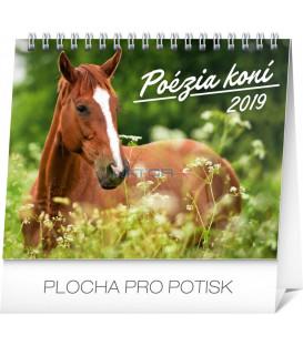 Stolový kalendár Poézia koní SK 2019, 16,5 x 13 cm