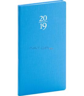 Vreckový diár Capys 2019, modrý, 9 x 15,5 cm