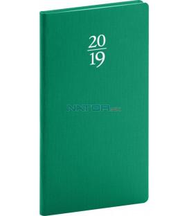 Vreckový diár Capys 2019, zelený, 9 x 15,5 cm