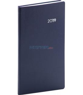 Vreckový diár Balacron 2019, modrý, 9 x 15,5 cm