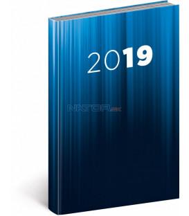 Denný diár Cambio 2019, modrý, 15 x 21 cm