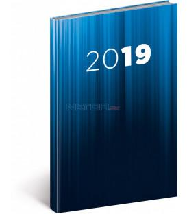 Týždenný diár Cambio 2019, modrý, 15 x 21 cm