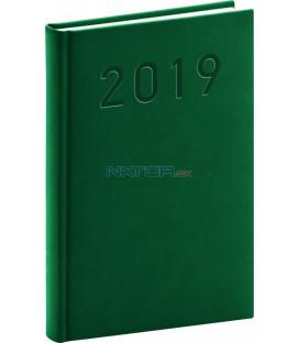 Denný diár Vivella Classic 2019, zelený, 15 x 21 cm