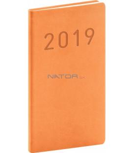Vreckový diár Vivella Fun 2019, oranžový, 9 x 15,5 cm