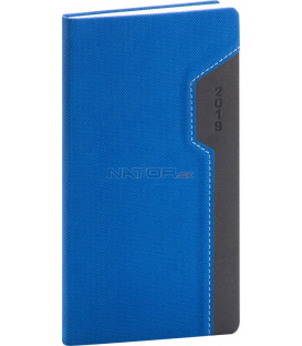 Vreckový diár Thun 2019, modrý, 9 x 15,5 cm