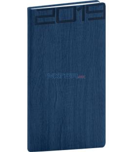 Vreckový diár Forest 2019, modrý, 9 x 15,5 cm